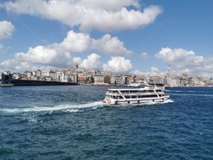 Cruising down the Bosphorus