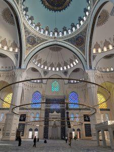 Inside Camlica Camii